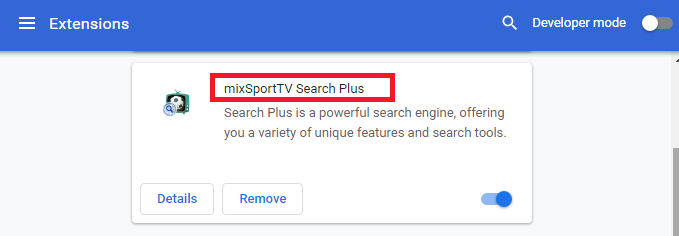Távolítsa el a mixSportTV Search Plus