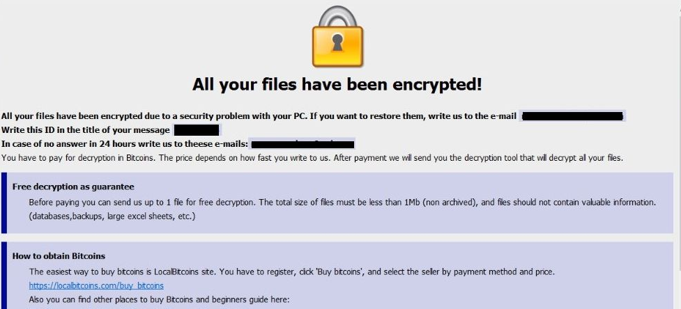Supprimer AUF Ransomware