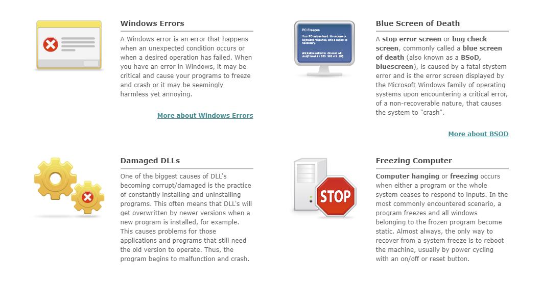 Fixing Windows errors and blue screens