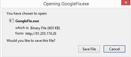 GoogleFix.exe Removal