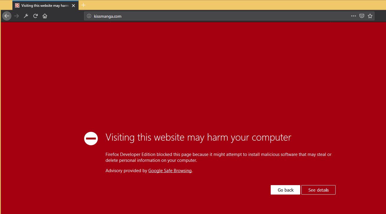 เอา Kissmanga malware