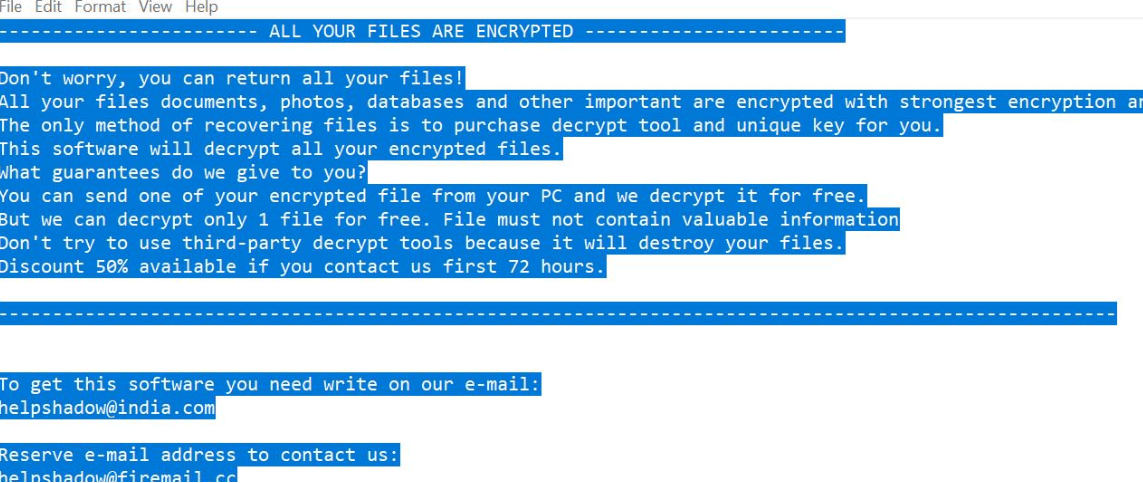 Suppression de Obfuscated Ransomware