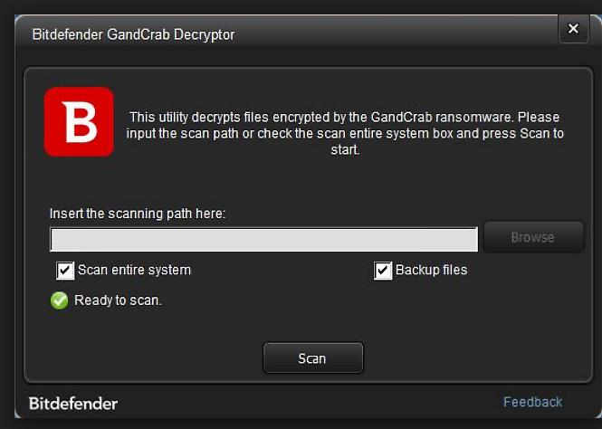 Bitdefender release decryptor for GandCrab versions