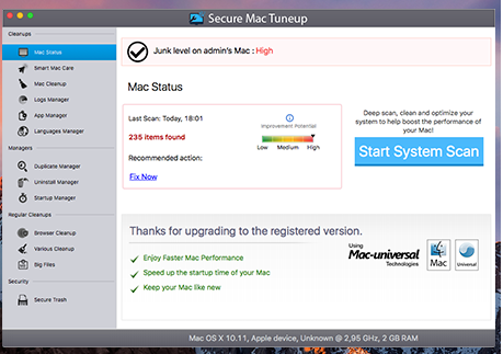 How to remove Mac Tuneup Pro