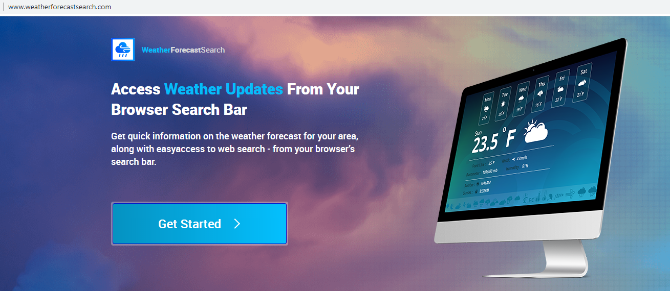 Usuń weatherforecastsearch.com adware