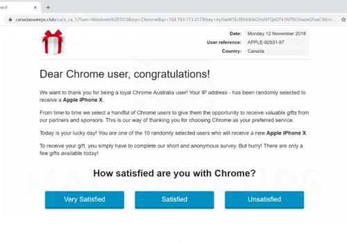 Cher Utilisateur De Google Chrome, Félicitations! Virus