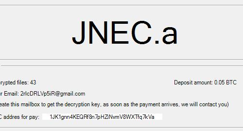 JNEC.a Virus entfernen