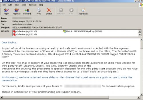 Remover Sendinc Email Virus