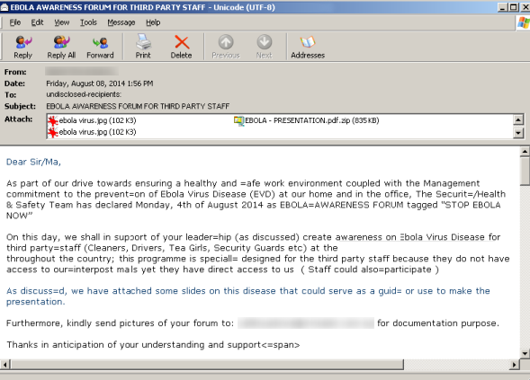 Remove Sendinc Email Virus