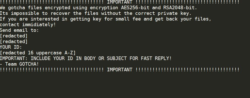 PoistaaGotcha Ransomware