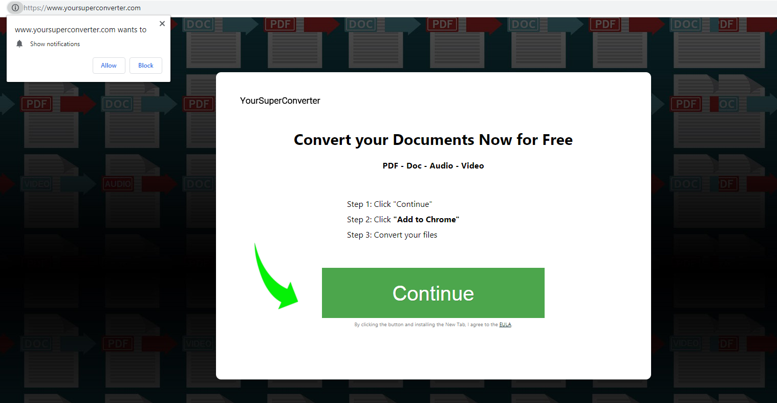 Fjern YourSuperConverter adware