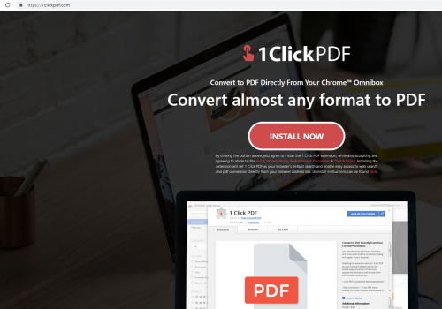 Poistaa1ClickPDF from Mac