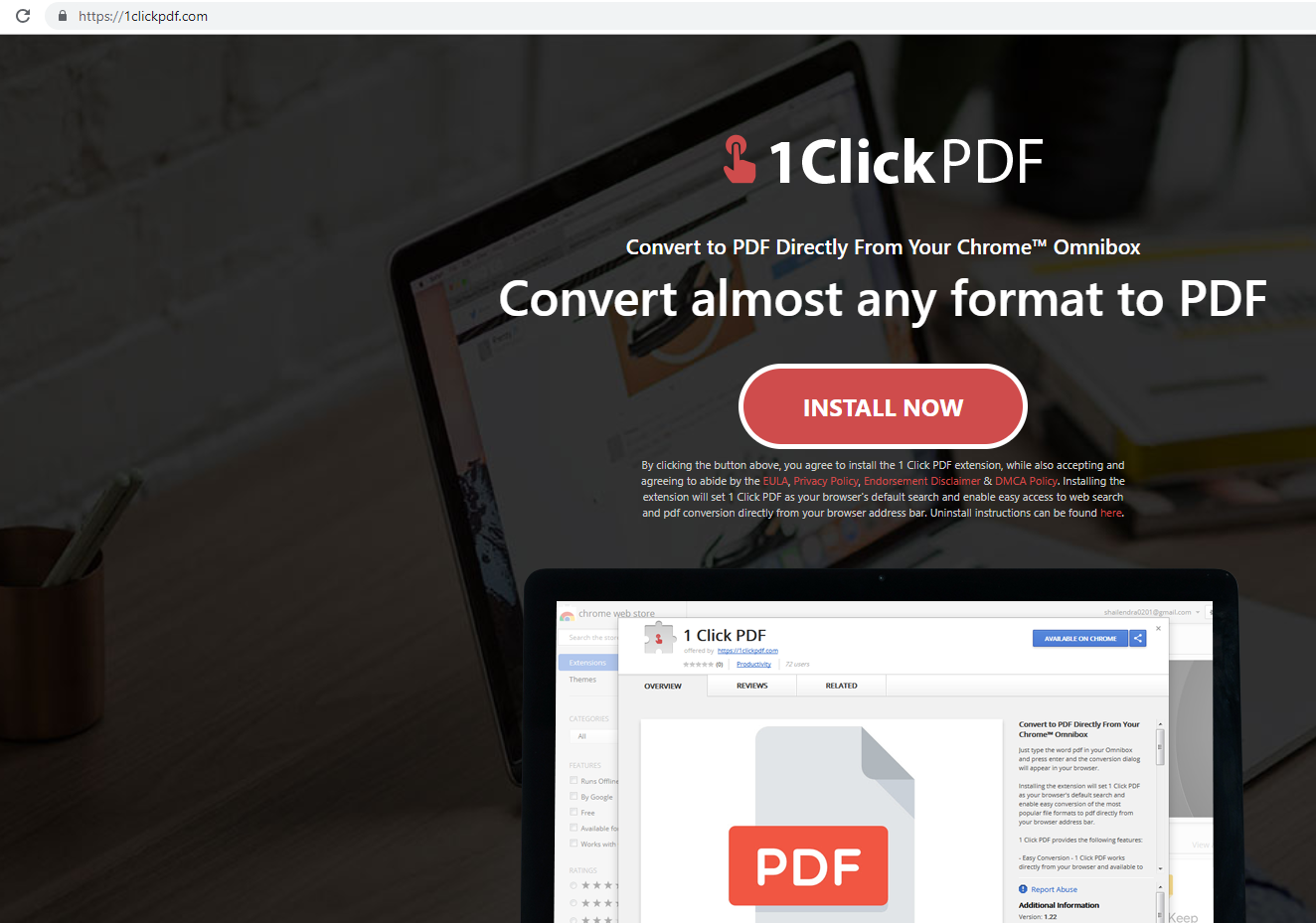Remove 1ClickPDF from Mac