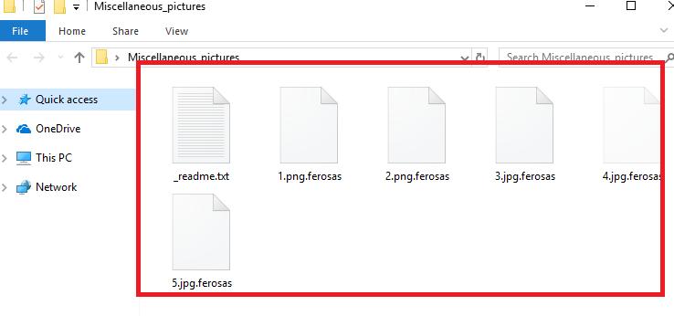 ازاله.Ferosas ransomware virus