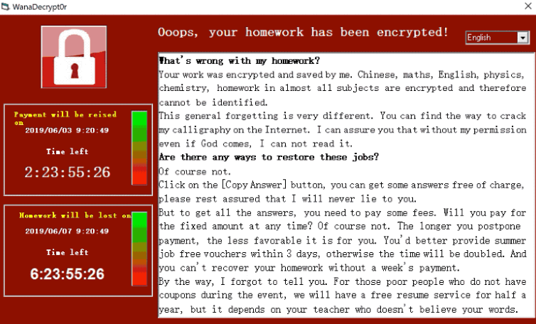 Homework Ransomware