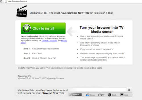 VerwijderenMedia new tab