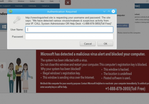 VerwijderenMicrosoft Detected Malicious Virus And Blocked Your Computer POP-UP Scam