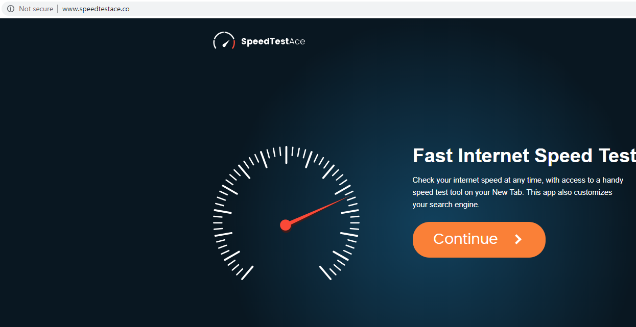 FjerneSpeedtestace.co hijacker