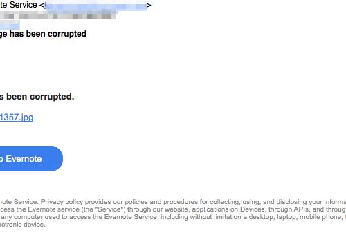 Evernote Virus Removal