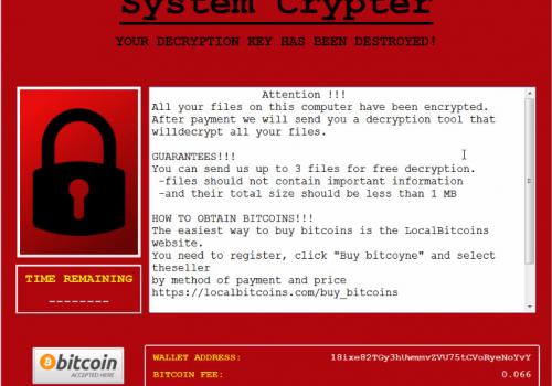 Quitar – eliminación de SystemCrypter ransomware virus de archivo .crypted