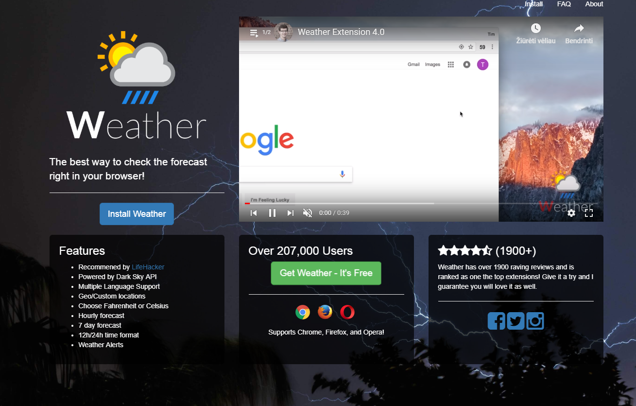 Comment supprimer Weather Forecaster Toolbar