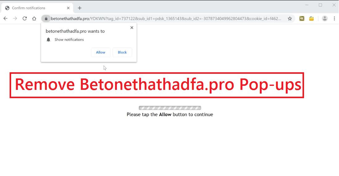 Menghapus Betonethathadfa.pro Pop-ups
