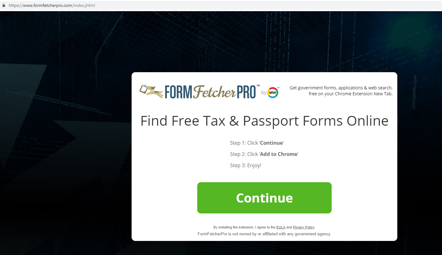Ta bort FormFetcherPro Browser Hijacker