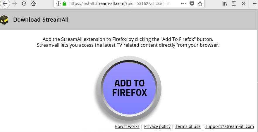 Supprimer les StreamAll Install.stream-all.com redirections