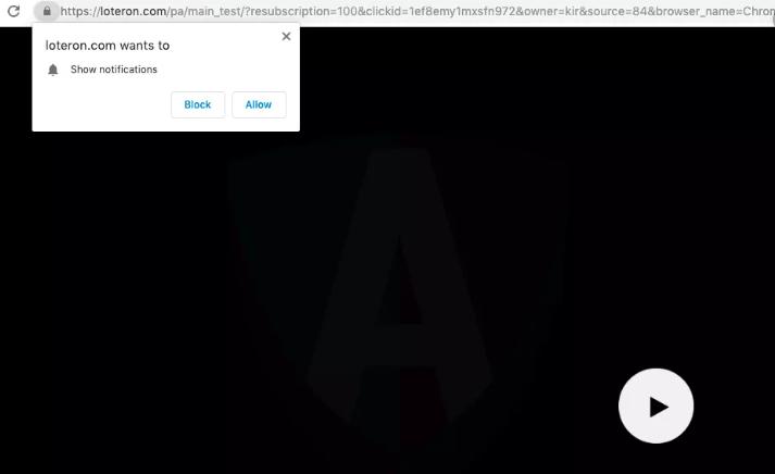 Как удалить Loteron.com