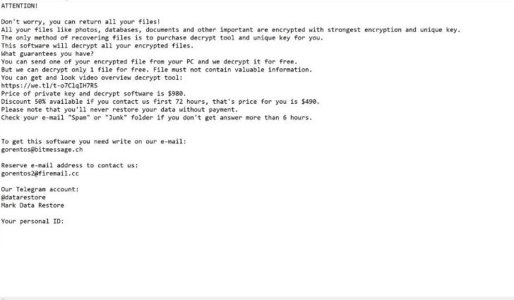 Menghapus Nasoh ransomware