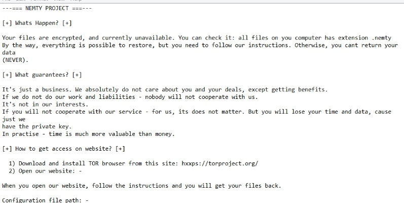 Nemty Ransomware – How to remove