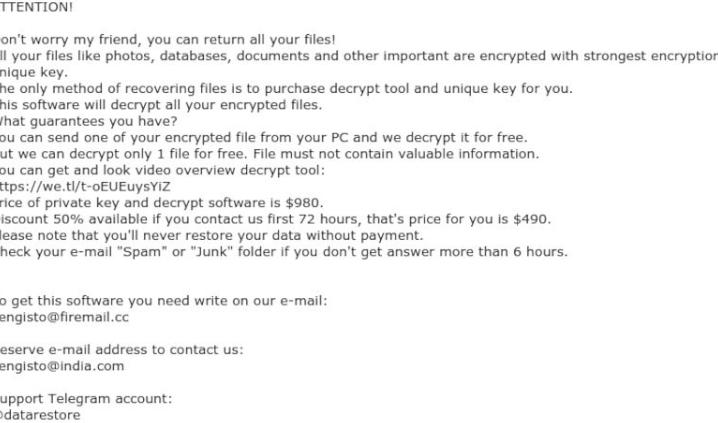 Eltávolít Verasto ransomware