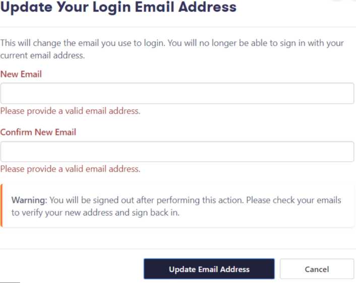 Удалить Login To My Email