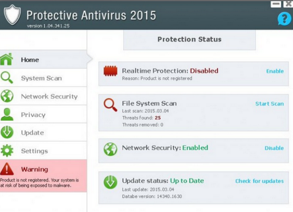 Rimuovere Protective Antivirus 2015