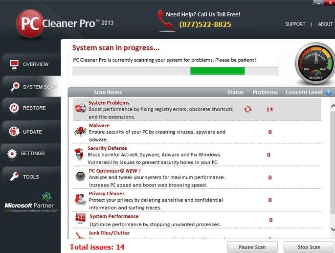 Rimuovere PC Clean Pro