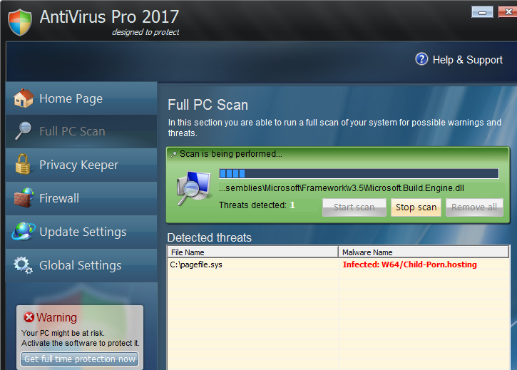 Eliminar Antivirus Pro 2017