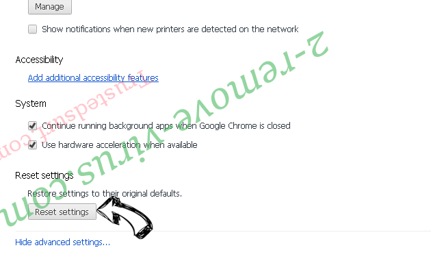 Firewall Spyware Alert pop-up scam Chrome advanced menu