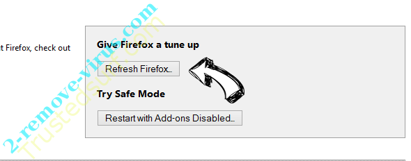 Contentgate.fun pop-up ads Firefox reset