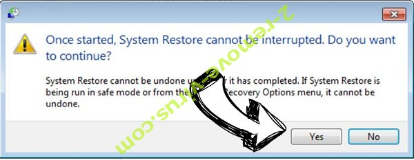 Usagoo ransomware removal - restore message