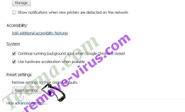 Searchanonymo.com Chrome advanced menu