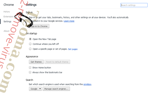 Searchanonymo.com Chrome settings
