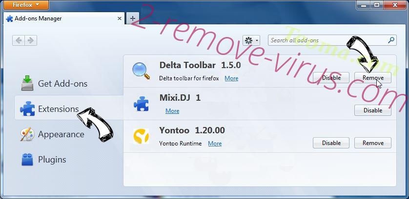 Searchanonymo.com Firefox extensions