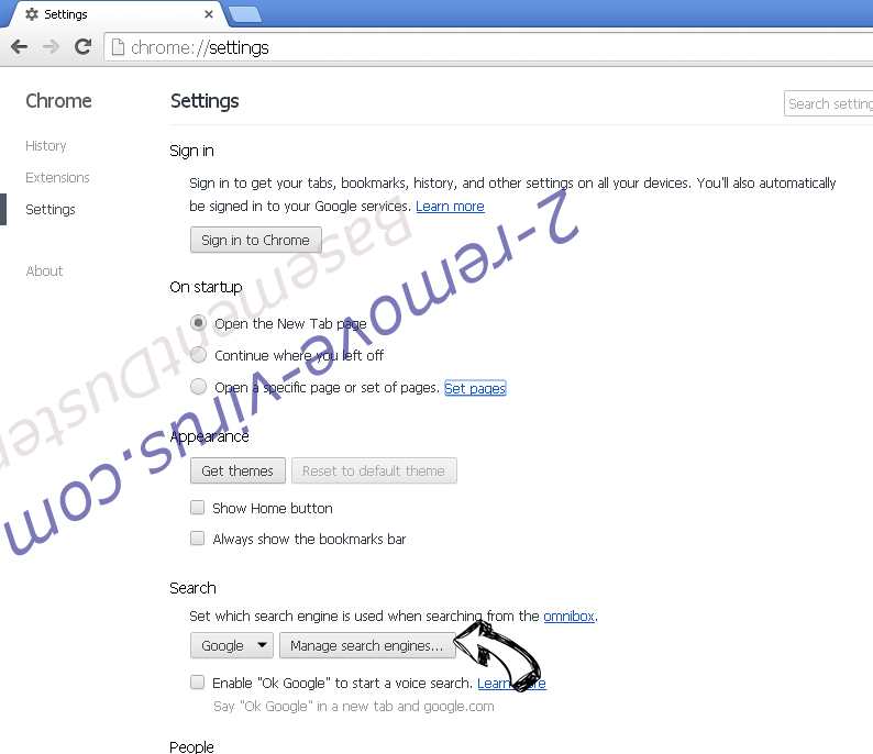 Websearches.club Chrome extensions disable