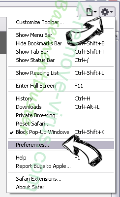 Websearches.club Safari menu