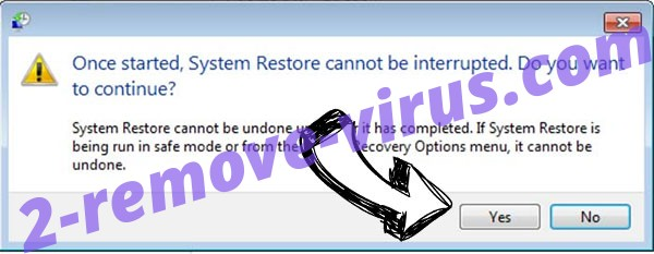 .Lmas file virus removal - restore message
