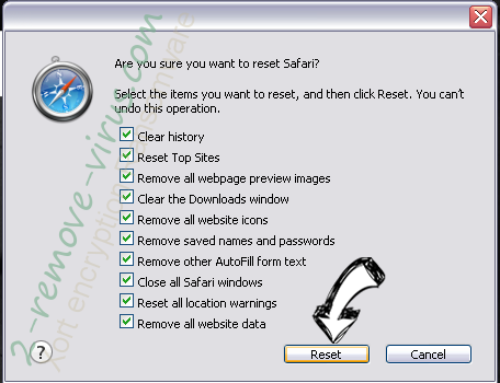 N19.biz pop-ups Safari reset