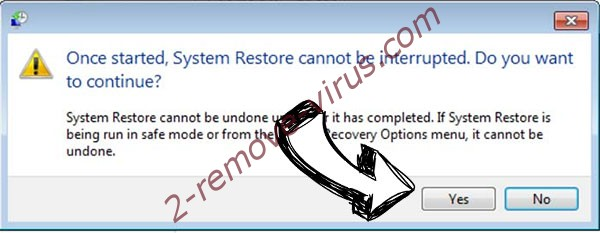 CHEATER ransomware removal - restore message