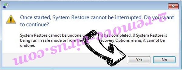 .CRYSTAL Files Ransomware removal - restore message