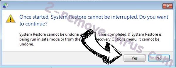 Qlocker ransomware removal - restore message