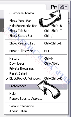 smartklick.biz Safari menu